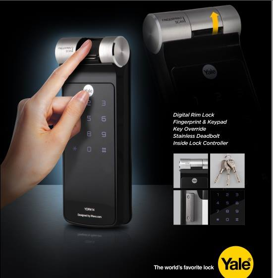 khóa vân tay Yale