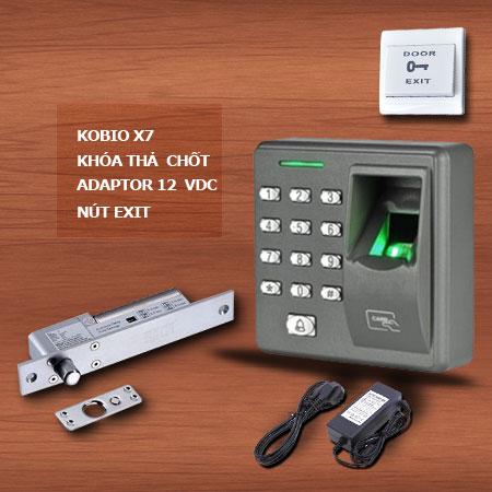 Bộ hệ thống kiểm soát cửa ra vào dùng vân tay Kobio X7