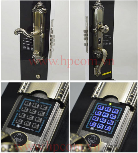 Khóa cửa cao cấp bằng vân tay Keylock HP-22XMK