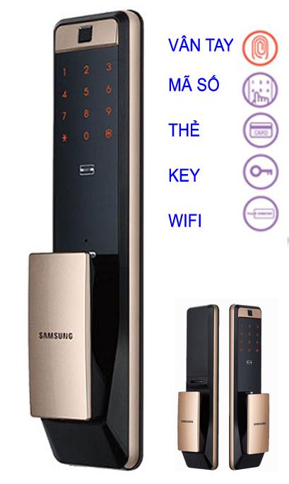 Khóa điện tử Samsung DP 609 Gold