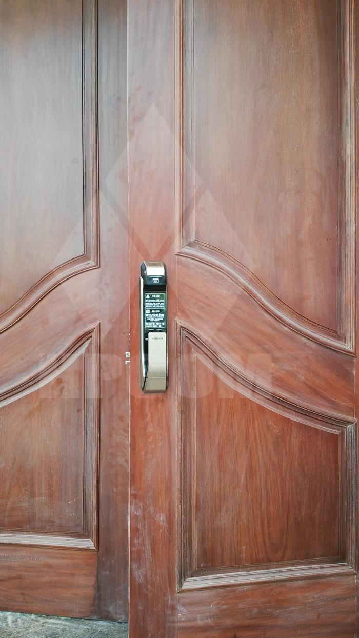 Lắp đặt khóa cửa vân tay Samsung SHS P910 Hải dương