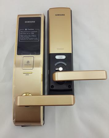 Mở hộp khóa điện tử Samsung SHS 705 Gold