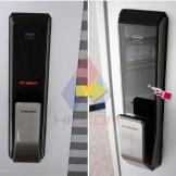 Hướng dẫn láp đặt khóa cửa điện tử Samsung SHS P718 trên cửa thép